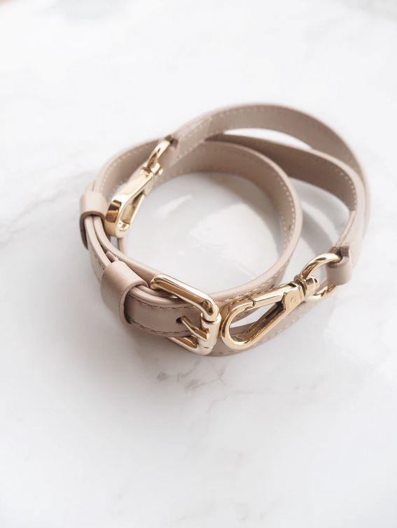 bracelet en cuir clair pour femme