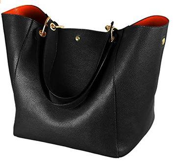 sac en cuir souple noir pour femme